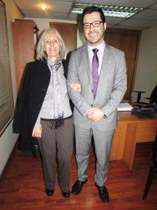 Dra. Mª Eugenia Valle Ponce junto al Sr. Miguel Fernández Freire.