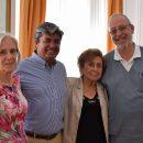 Vicepresidenta del Colegio, la Dra. María Eugenia Valle; Luis Felipe Jiménez, tesorero nacional; Mauricio Rosenberg, secretario nacional y doctora Myriam Ahumada