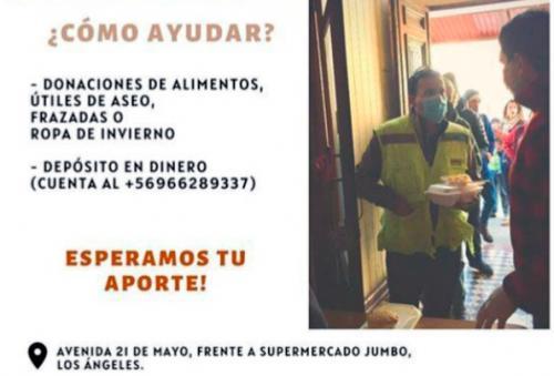 Afiche de campaña de ayuda en Los Ángeles