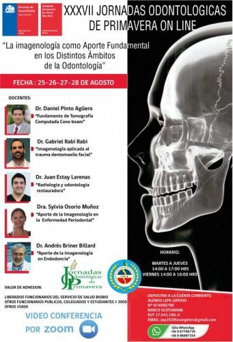 Afiche XXXVII Jornadas Odontológicas de Primavera Online