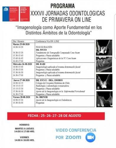 Programa XXXVII Jornadas Odontológicas de Primavera Online