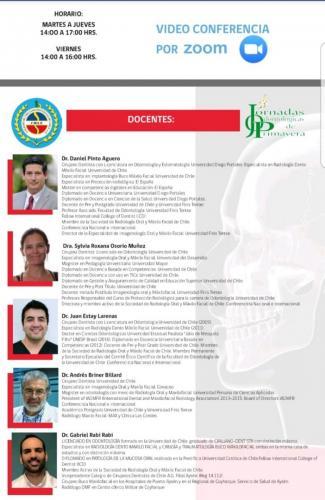 Docentes XXXVII Jornadas Odontológicas de Primavera Online